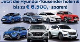 Mit Hyundai-Tausender bis zu € 6.500,– sparen!