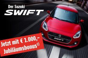 € 1.000,- Suzuki Swift Jubiläumsbonus