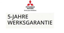 Mitsubishi – 5 Jahre Werksgarantie