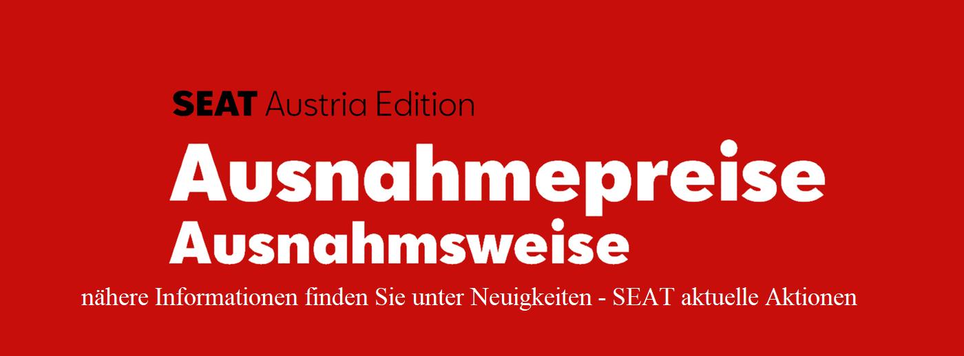 Seat Austria Edition bei Autohaus Knoll in Langenwang und Kapfenberg